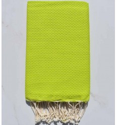 plain honeycomb lime green beach towel