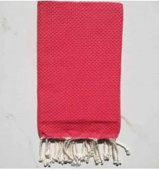 plain honeycomb dark dogwood rose beach towel