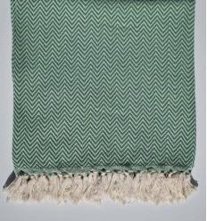Green chevron throw blanket