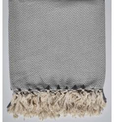 Light grey chevron throw blanket