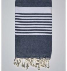 arthur blue gued beach towel with stripes