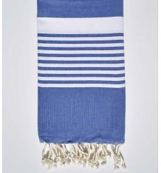 arthur blue beach towel with stripes