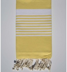arthur yellow beach towel with stripes