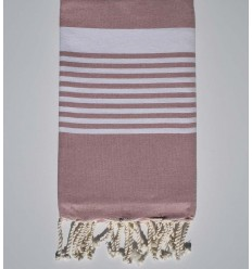 arthur antique brass with stripes beach towel