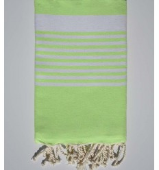 Arthur neon green fouta with stripes