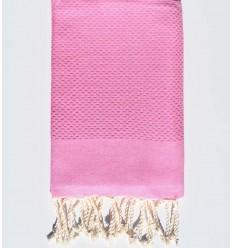 plain honeycomb dark sugared pink beach towel