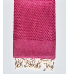 plain honeycomb purple rose beach towel