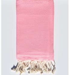plain honeycomb light incarnadin pink beach towel