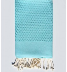 plain honeycomb medium azure blue fouta
