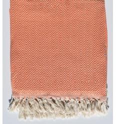 Orange chevron throw blanket