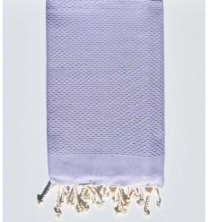 Plain lavender beach towel