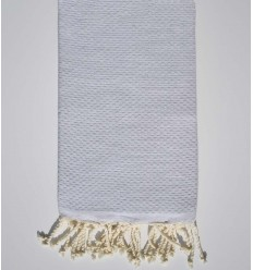 Plain Very light gray beach towel
