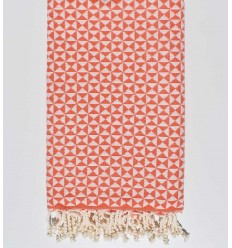 butterfly carrot orange beach towel