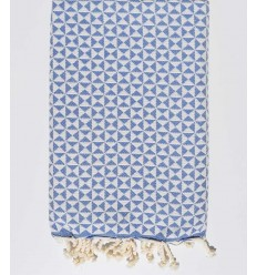 butterfly royal blue beach towel