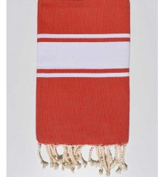 Beach towel flat Red fire