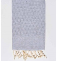plain honeycomb light mouse gray beach towel