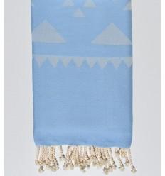 Blue bohemian beach towel