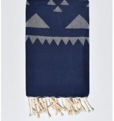 Dark blue bohemian beach towel