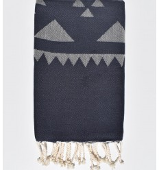 Midnight blue bohemian beach towel
