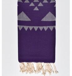 Bohemian purple beach towel