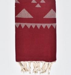 Burgundy red bohemian beach towel