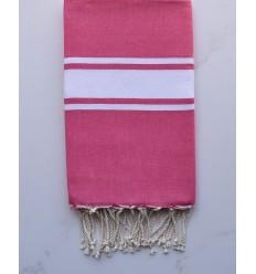 Deep cerise flat beach towel